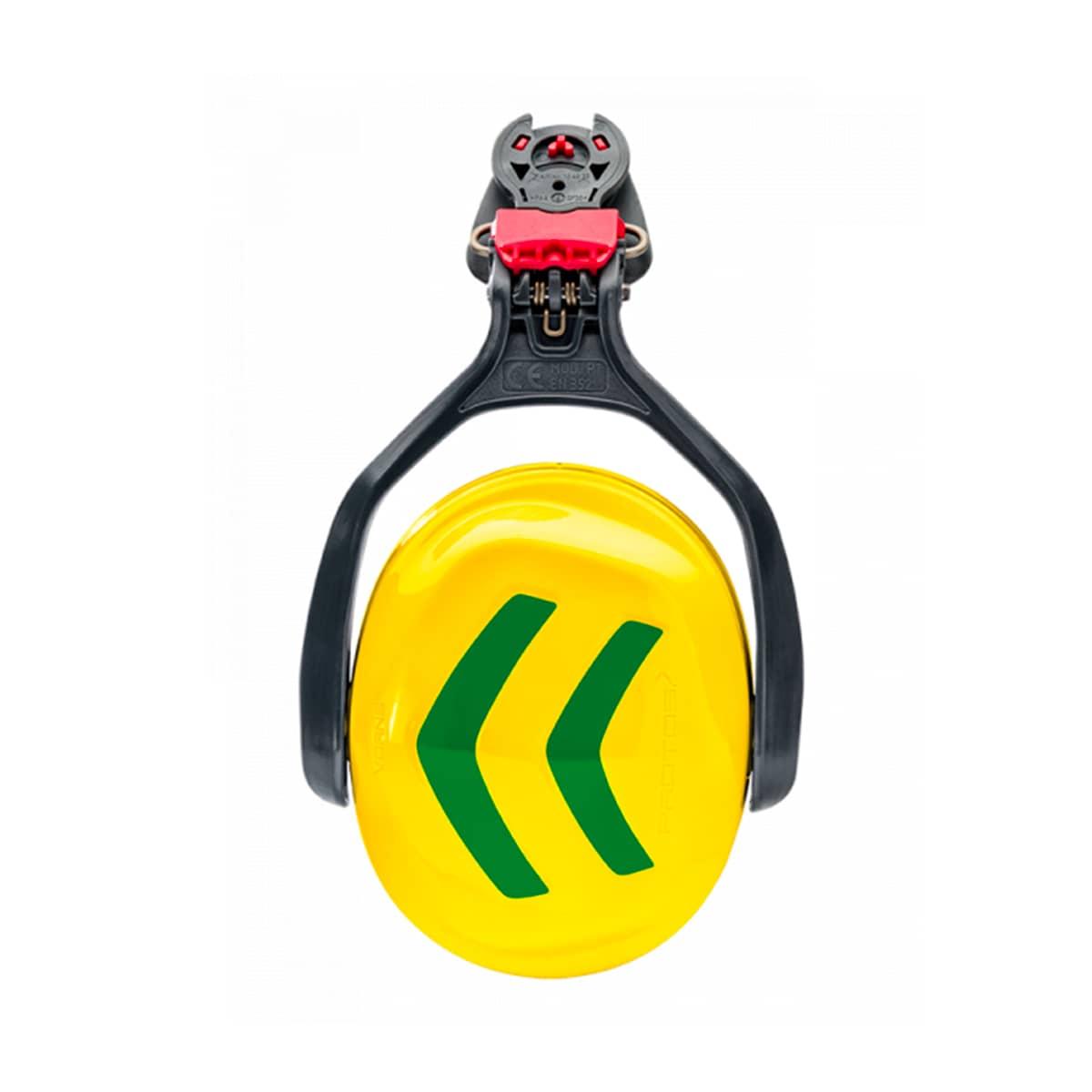 Casque Protos kit anti-bruit jaune-vert