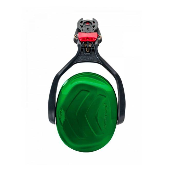 Casque Protos kit anti-bruit vert